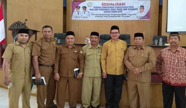Baitul Mal Aceh Tengah Adakan Sosialisasi Administrasi Pengelolaan Zisha Kepada Seluruh SKPK di Aceh